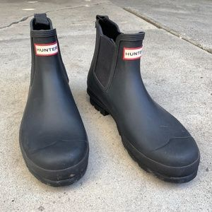 Black Hunter Chelsea Rain Boots Size Men US10 EU44
